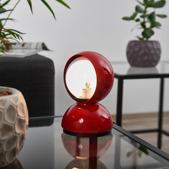Lampe a poser eclisse rouge o12cm h18cm artemide normal