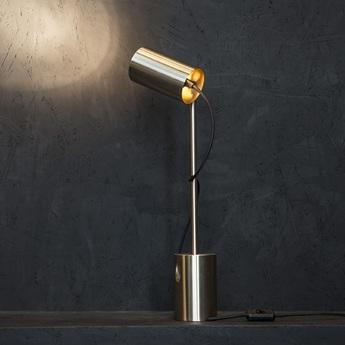 Lampe a poser ed005 laiton o15cm h52cm edizioni normal