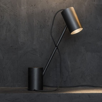 Lampe a poser ed005 noir o15cm h52cm edizioni normal