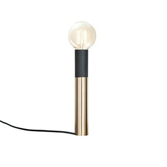 Lampe a poser ed030 laiton bois noir o6cm h45cm edizioni normal
