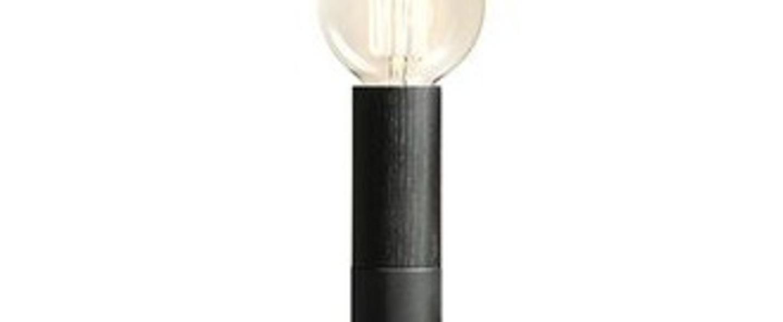 Lampe a poser ed030 noir bois noir o6cm h45cm edizioni normal