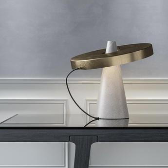 Lampe a poser ed039 bronze o40cm h37cm edizioni normal