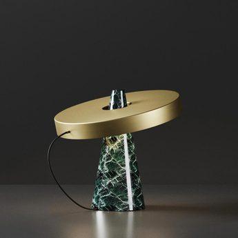 Lampe a poser ed039 laiton vert o40cm h37cm edizioni normal