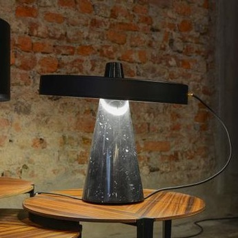 Lampe a poser ed039 noir o40cm h37cm edizioni normal