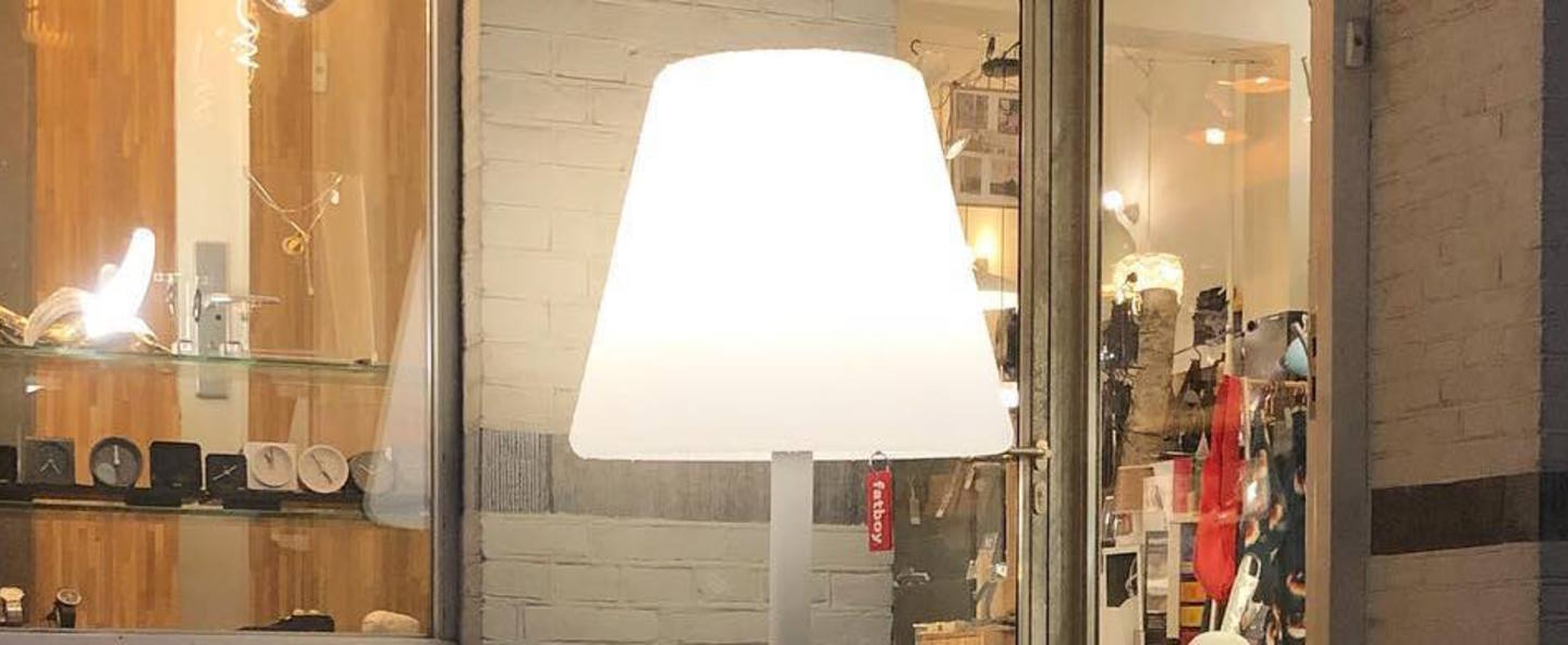 Lampe a poser edison the giant blanc led o58cm h182cm fatboy normal