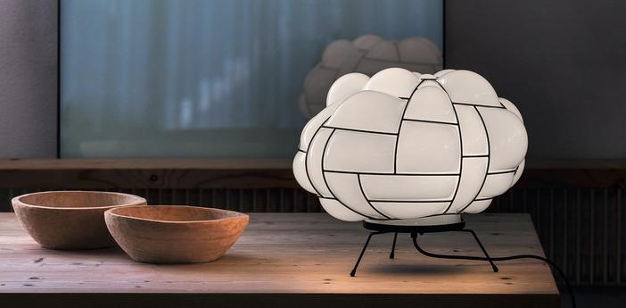 Lampe a poser egg blanc led l50cm h28cm palluco normal
