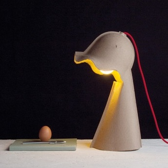 Lampe a poser egg of columbus beige h41cm seletti normal
