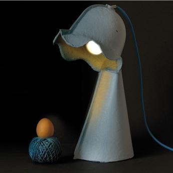 Lampe a poser egg of columbus bleu h41cm seletti normal