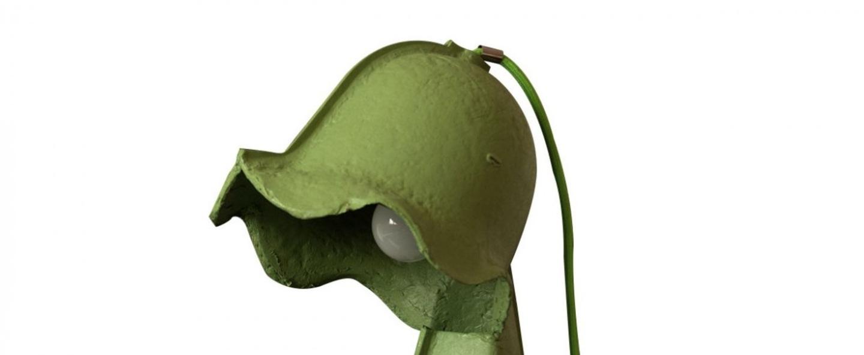 Lampe a poser egg of columbus vert h41cm seletti normal