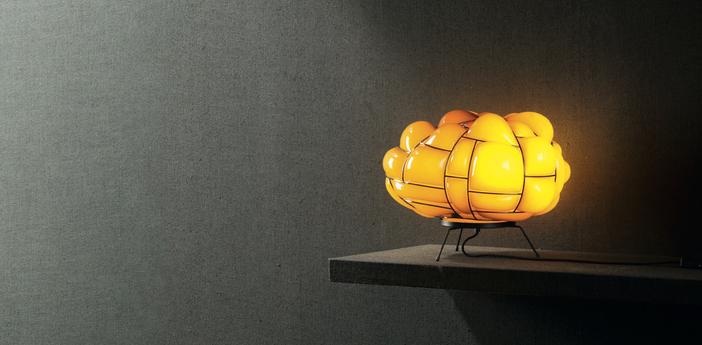 Lampe a poser egg topaz led l50cm h28cm palluco normal
