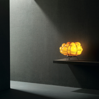Lampe a poser egg topaz led l50cm h28cm palluco normal