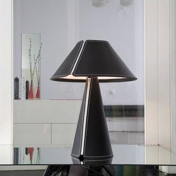 Lampe a poser el senor cuir noir h60cm formagenda normal