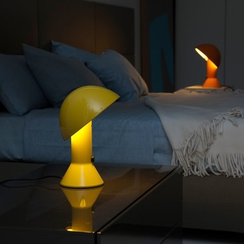 Lampe a poser elmetto jaune h28cm martinelli luce normal