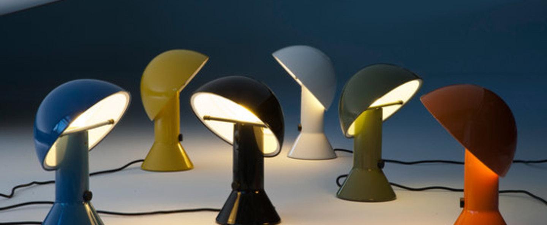 Lampe a poser elmetto orange h28cm martinelli luce normal