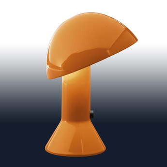 Lampe a poser elmetto orange h28cm martinelli luce normal
