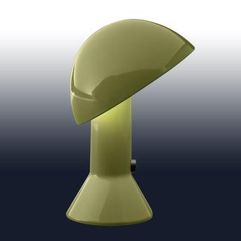Lampe a poser elmetto vert h28cm martinelli luce normal