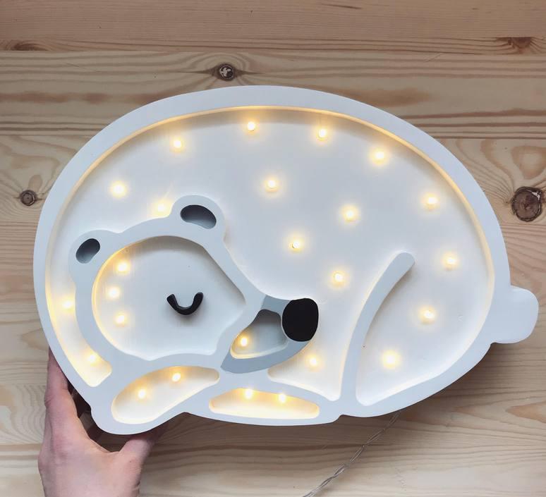 Bear studio little lights lampe a poser enfant kids table lamp  little lights bear white  design signed nedgis 73244 product