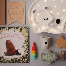 Bear studio little lights lampe a poser enfant kids table lamp  little lights bear white  design signed nedgis 73245 thumb