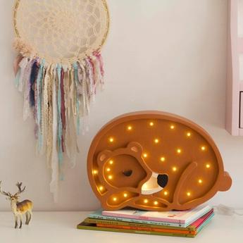 Lampe a poser enfant bear marron chaud led k lm l36cm h26cm little lights normal