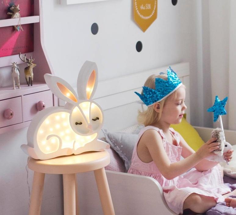 Bunny studio little lights lampe a poser enfant kids table lamp  little lights bunny white  design signed nedgis 73271 product