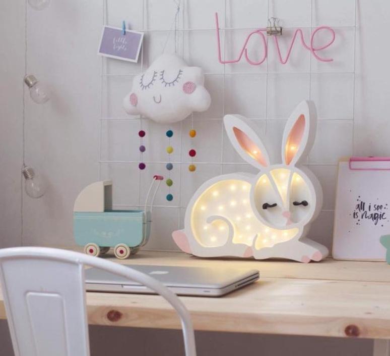Bunny studio little lights lampe a poser enfant kids table lamp  little lights bunny white  design signed nedgis 73273 product
