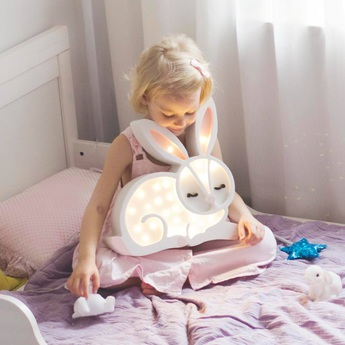 Lampe a poser enfant bunny blanc l34cm h33cm little lights normal