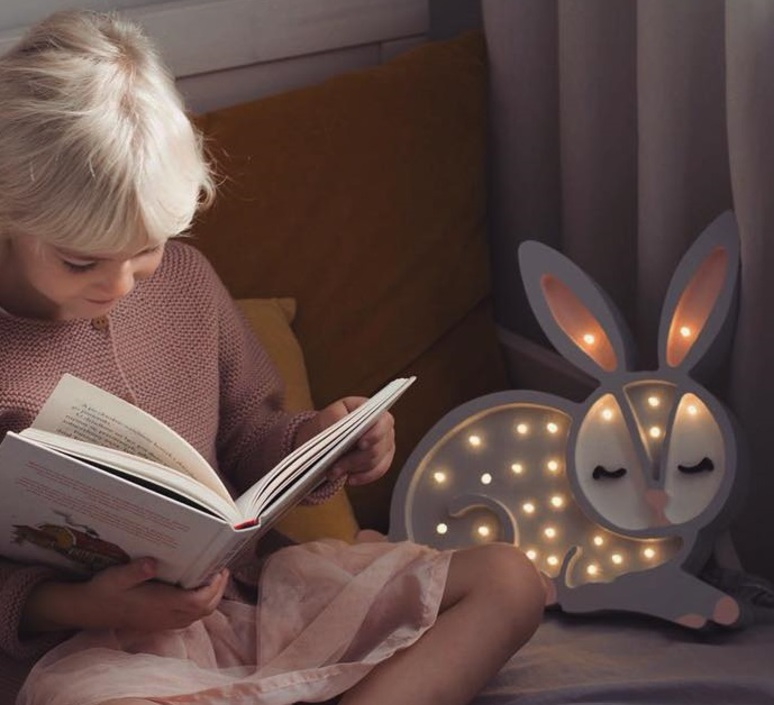 Bunny studio little lights lampe a poser enfant kids table lamp  little lights bunny lightgrey  design signed nedgis 73278 product