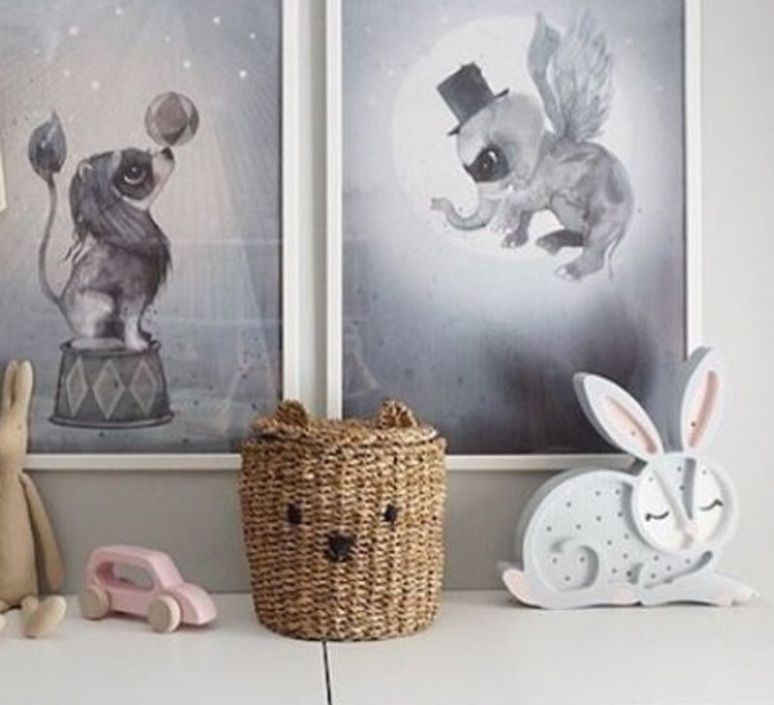 Bunny studio little lights lampe a poser enfant kids table lamp  little lights bunny lightgrey  design signed nedgis 73279 product