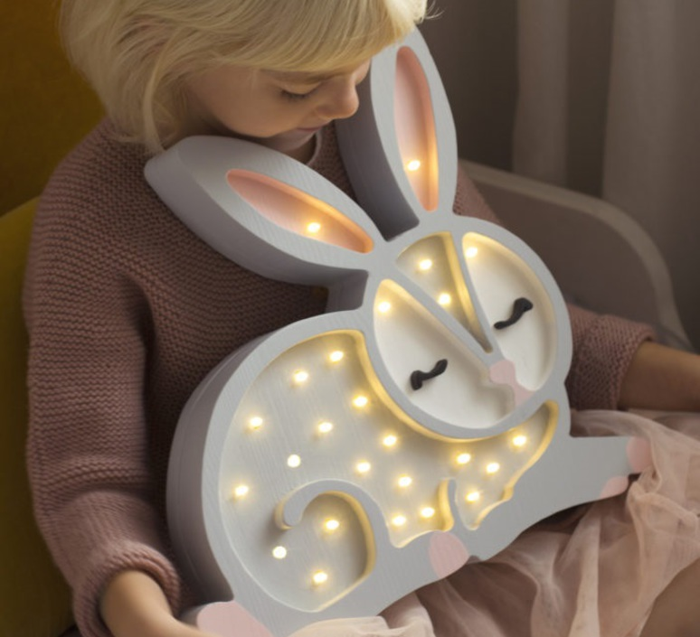 Bunny studio little lights lampe a poser enfant kids table lamp  little lights bunny lightgrey  design signed nedgis 73280 product