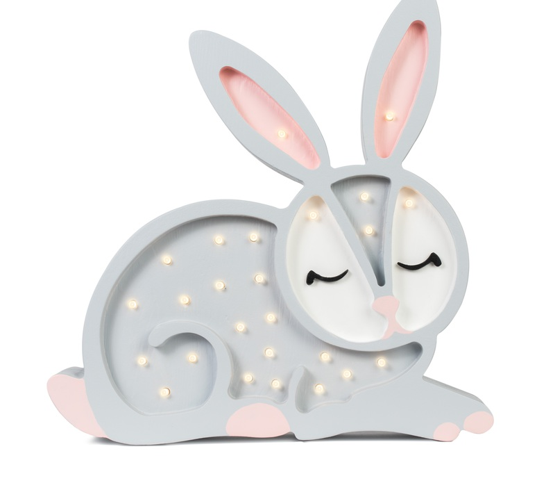 Bunny studio little lights lampe a poser enfant kids table lamp  little lights bunny lightgrey  design signed nedgis 73281 product