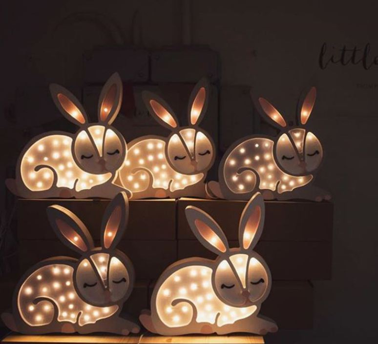 Bunny studio little lights lampe a poser enfant kids table lamp  little lights bunny lightgrey  design signed nedgis 73283 product