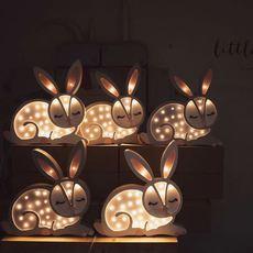 Bunny studio little lights lampe a poser enfant kids table lamp  little lights bunny lightgrey  design signed nedgis 73283 thumb