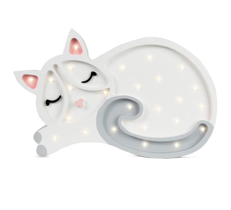 Cat studio little lights lampe a poser enfant kids table lamp  little lights cat white  design signed nedgis 73285 product