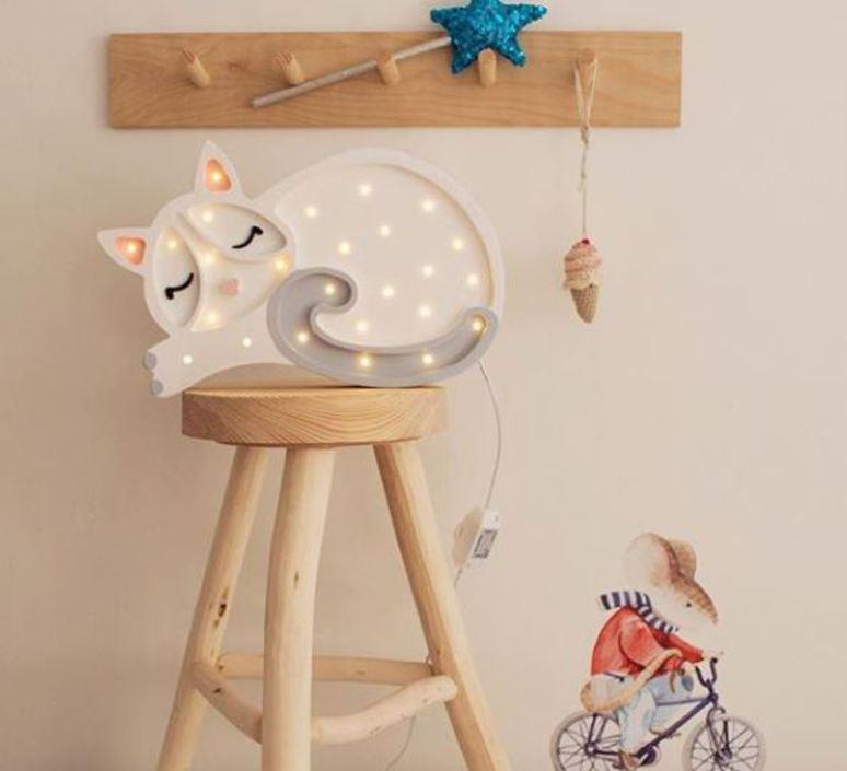 Cat studio little lights lampe a poser enfant kids table lamp  little lights cat white  design signed nedgis 73288 product