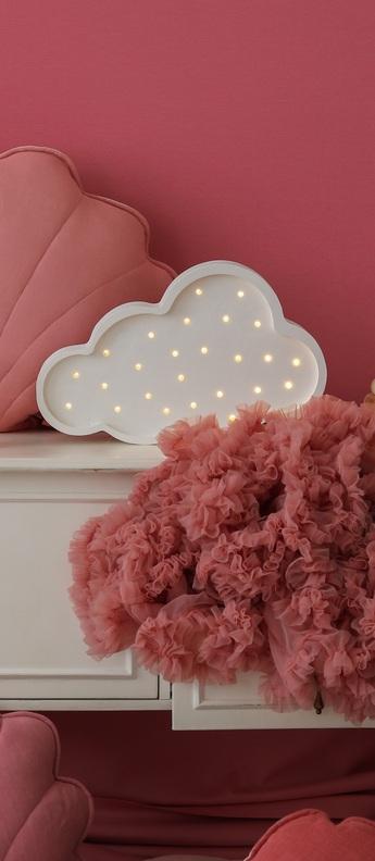 Lampe a poser enfant cloud blanc l37cm h23cm little lights normal