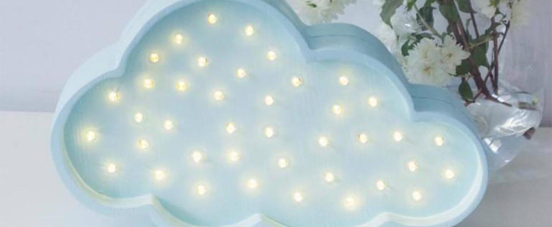 Lampe a poser enfant cloud bleu l37cm h23cm little lights normal