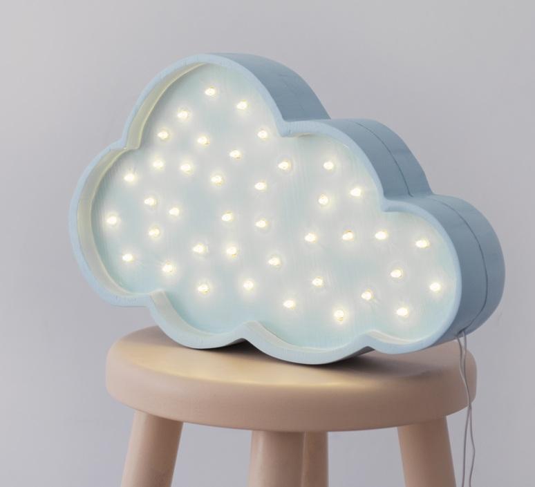 Cloud studio little lights lampe a poser enfant kids table lamp  little lights cloud blue  design signed nedgis 125970 product