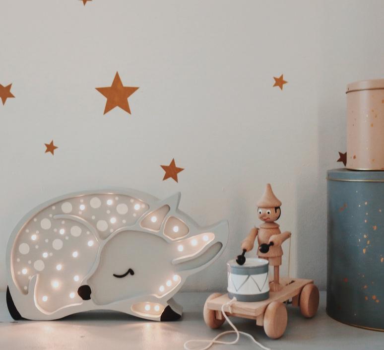 Deer studio little lights lampe a poser enfant kids table lamp  little lights deer lightgrey  design signed nedgis 73317 product
