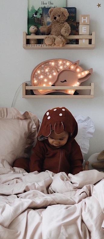 Lampe a poser enfant deer marron foret l37cm h19cm little lights normal