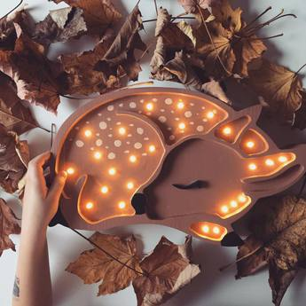 Lampe a poser enfant deer marron foret l37cm h19cm little lights normal