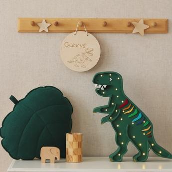 Lampe a poser enfant dino t rex lamp rainbow green led k lm l38cm h27cm little lights normal