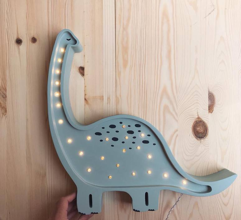 Diplodocus studio little lights lampe a poser enfant kids table lamp  little lights diplodocus mint  design signed nedgis 73324 product