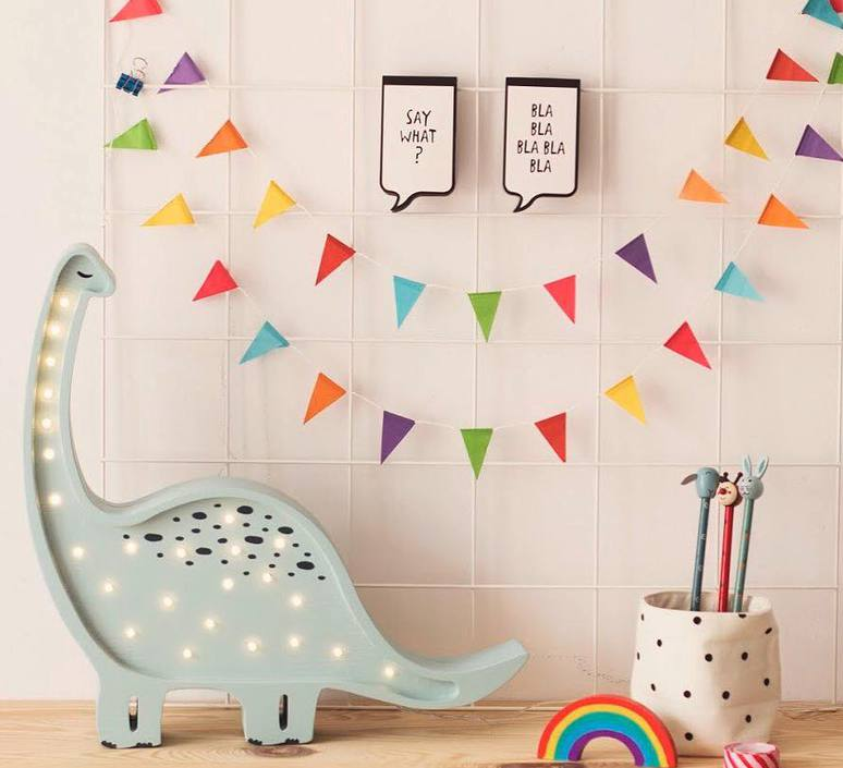 Diplodocus studio little lights lampe a poser enfant kids table lamp  little lights diplodocus mint  design signed nedgis 73328 product