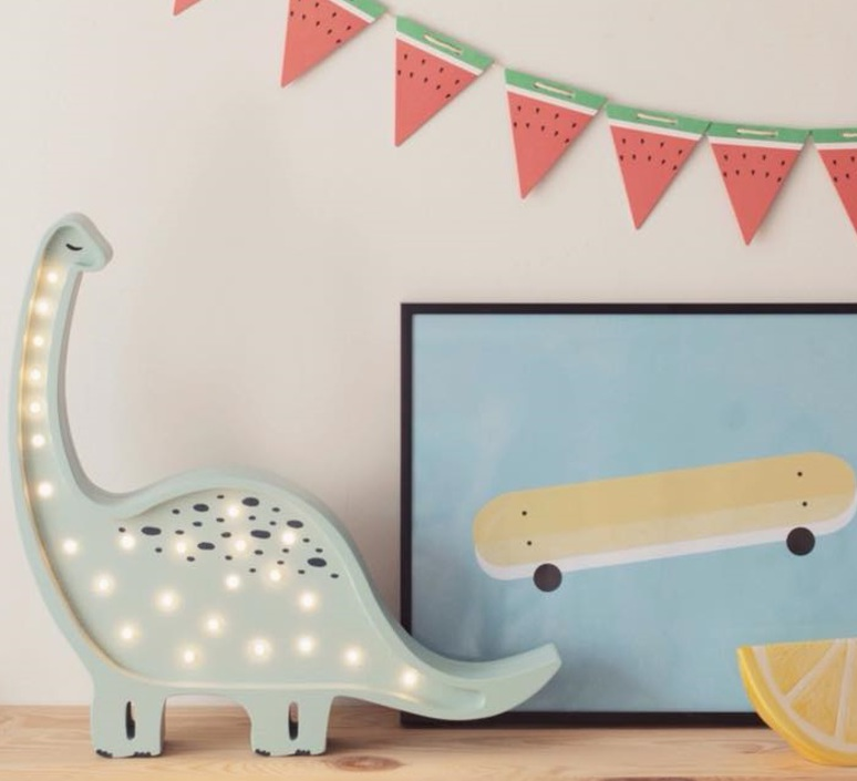 Diplodocus studio little lights lampe a poser enfant kids table lamp  little lights diplodocus mint  design signed nedgis 73329 product