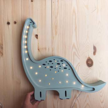 Lampe a poser enfant diplodocus menthe l39cm h36cm little lights normal