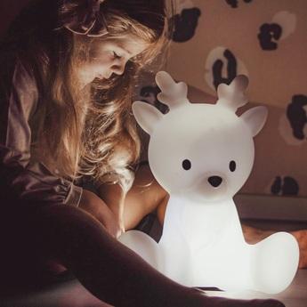 Lampe a poser enfant fabian medium blanc led k lm o28cm h20cm flow amsterdam normal
