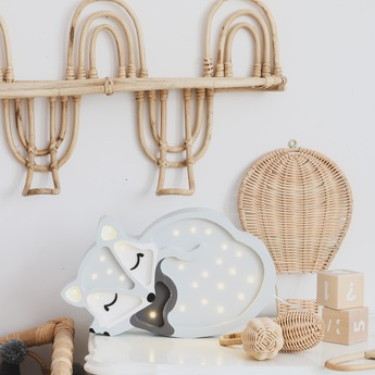 Lampe a poser enfant fox gris l31cm h19cm little lights normal