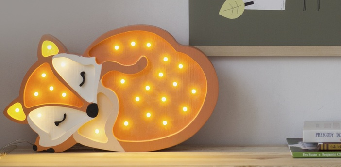 Lampe a poser enfant fox orange sauvage l31cm h19cm little lights normal