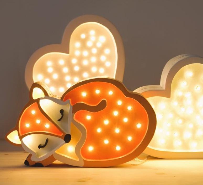 Fox studio little lights lampe a poser enfant kids table lamp  little lights fox wildorange  design signed nedgis 73336 product