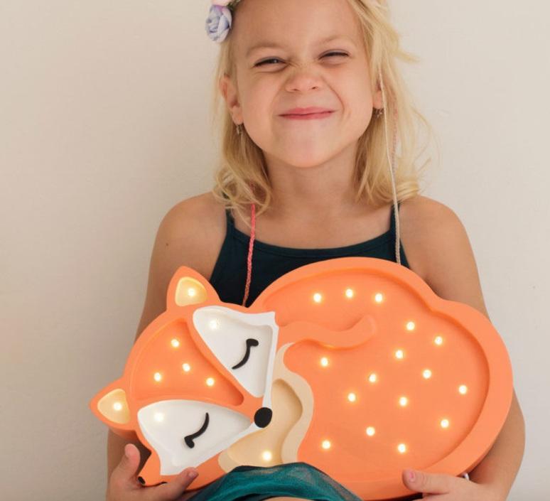 Fox studio little lights lampe a poser enfant kids table lamp  little lights fox wildorange  design signed nedgis 73339 product